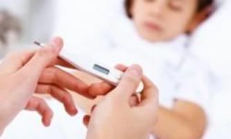 Скільки тримається температура при грипі у дітей?